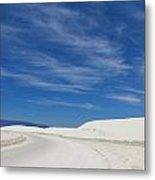 Feathery Clouds Over White Sands Metal Print