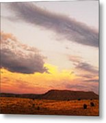 Feathery Sunset Clouds Metal Print