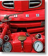 Featured Old Ford  Front On Fire Engine Denmark  Metal Print