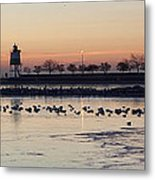 February Navy Pier Chicago Illinois Metal Print