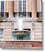 Federal Building Fountain Metal Print