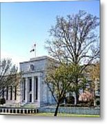 Federal Reserve Building Metal Print by Olivier Le Queinec