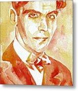 Federico Garcia Lorca Portrait Metal Print