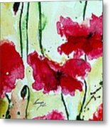 Feel The Summer 2 - Poppies Metal Print by Ismeta Gruenwald