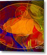 Feeling At Home With Uncertainty Abstract Healing Art Metal Print