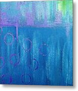 Feeling Blue Abstract Metal Print