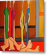 Feet Metal Print by Deborah Glasgow