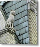 Feline Sentry Metal Print