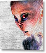 Female Alien Portrait Metal Print