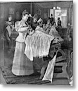 Female Barber-shop, 1895 Metal Print