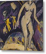 Female Nude With Hot Tub Metal Print