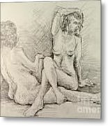 Female Nudes Metal Print