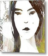 female Textured Sketch Number 3 Metal Print