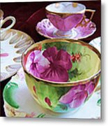 Feminine High Society Ladies Tea Party Metal Print