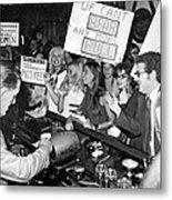 Feminists Protest  Brown's Bar Metal Print