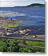 Fence Along Rocky Harbour-nl Metal Print