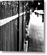 Fence At Eight  Metal Print