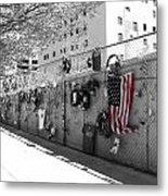 Fence At The Oklahoma City Bombing Memorial Metal Print