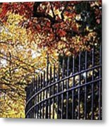 Fence At Woodlawn Cemetery Metal Print
