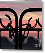 Fence Of Luck Metal Print