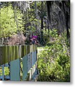 Fence Points The Way Metal Print