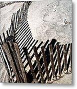 Fence Shadows Metal Print by John Rizzuto