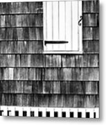 Fence Shutter And Weathered Wall Metal Print