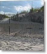 Fenced Dune Metal Print