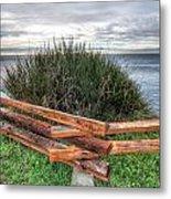 Fenced Grass Metal Print