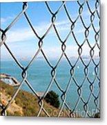 Fenced In Beauty Metal Print