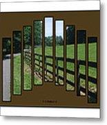 Fenced Pasture Metal Print