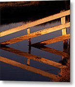 Fenced Reflection Metal Print