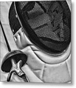 Fencing - Fencing Mask And Sword Metal Print