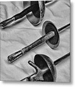 Fencing - Fencing Swords Metal Print