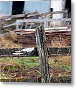Fencing In The Junk Metal Print