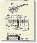 Fender Floating Tremolo 1961 Patent Art Metal Print by Prior Art Design