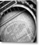 Fender Guitar Black And White 2 Metal Print