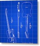 Fender Guitar Patent 1951 - Blue Metal Print