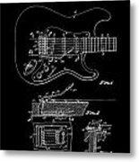 Fender Guitar Tremolo Patent Art 1956 Metal Print