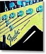Fender Head In Watercolor Photo Metal Print