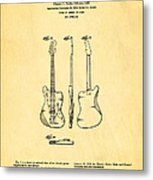 Fender Jazzmaster Guitar Design Patent Art 1959 Metal Print