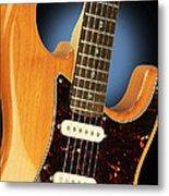 Fender Stratocaster Electric Guitar Natural Metal Print