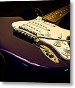 Fender Stratocaster In Blue Metal Print
