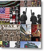 Fenway Memories Metal Print by Joann Vitali