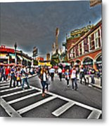Fenway Park And Cask And Flagon Metal Print