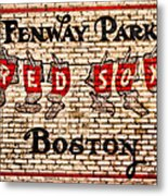 Fenway Park Boston Redsox Sign Metal Print by Bill Cannon