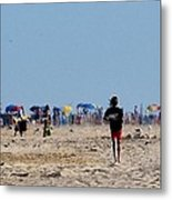 Beach Scene - Fenwick Island Delaware Metal Print