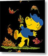 Ferald Dancing Amongst The Autumn Leaves Metal Print