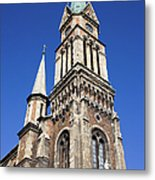 Ferencvaros Church Tower In Budapest Metal Print