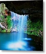 Fern Pool Falls Metal Print